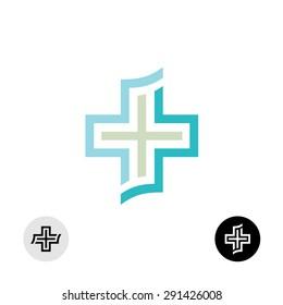 Medical or religion cross symbol logo.
