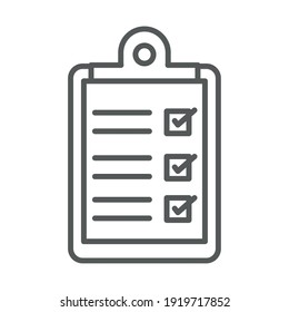 medical report clipboard vector illustration line icon white background