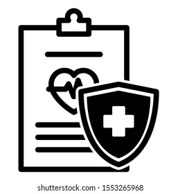 Medical report icon design. Medical report icon in trendy flat style design. Vector illustartion.