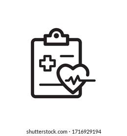 medical report icon line art design