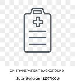 Medical Report icon. Trendy flat vector Medical Report icon on transparent background from Health and Medical collection. High quality filled Medical Report symbol use for web and mobile