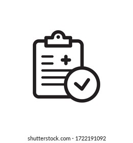 medical report icon vector symbol template