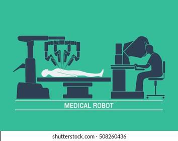 medical robot icon vector