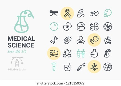 Medical Science Icon Set 3