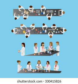 Medical Scientists, Laboratory Research, Different View Set - Vector Illustration, Graphic Design Editable For Your Design