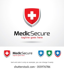 Medical Secure Logo Template Design Vector