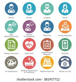 Medical Services Icons Set 1 - Sympa Series | Dots