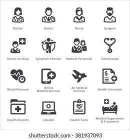 Medical Services Icons Set 2 - Sympa Series | Black