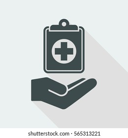 Medical services - Vector flat icon