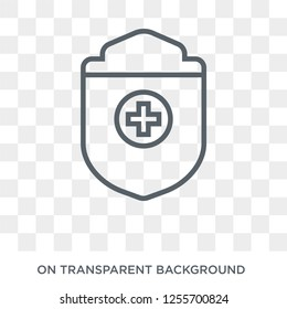 medical Shield icon. Trendy flat vector medical Shield icon on transparent background from Health and Medical collection. High quality filled medical Shield symbol use for web and mobile