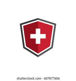 Medical shield logo design