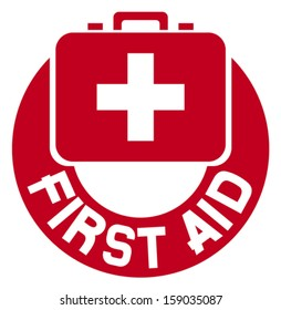 medical sign button (first aid icon)