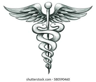 Medical Sign. Hand drawn vector illustration.