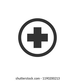 Medical sign. Plus icon vector. symbol for web site Computer and mobile vector.