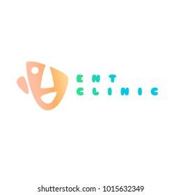 template logo ear nose throat concept stock vector royalty free