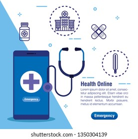 medical smartphone technology and stethoscope diagnosis