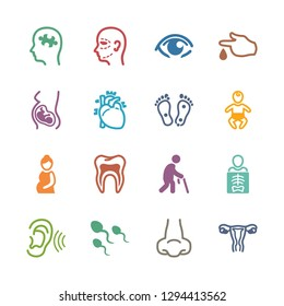 Medical Specialties Icons - Colored Set 1