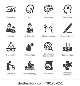 Medical Specialties Icons Set 2 - Sympa Series | Black