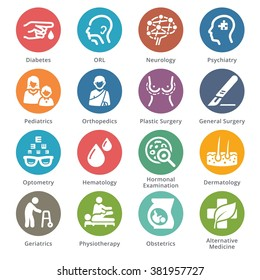 Medical Specialties Icons Set 2 - Sympa Series | Dots