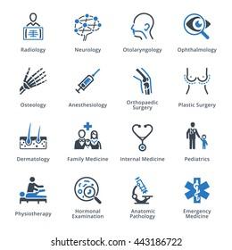 Medical Specialties Set 3 - Blue Series