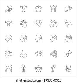 Medical specialties vector icons set, symbol designs