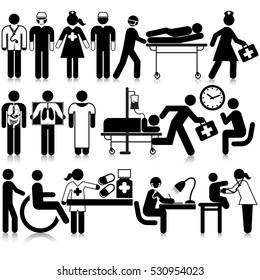Medical Staff Icon Set