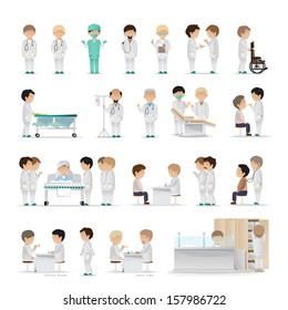 Medical Staff - Isolated On White Background - Vector Illustration, Graphic Design Editable For Your Design