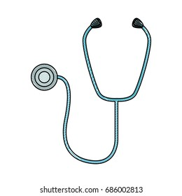 medical stethoscope diagnosis equipment icon