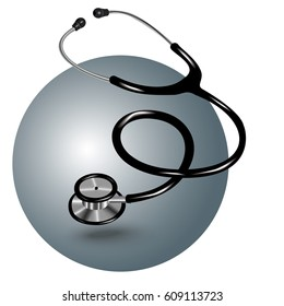 Medical stethoscope. Vector. Isolated. Realistic.