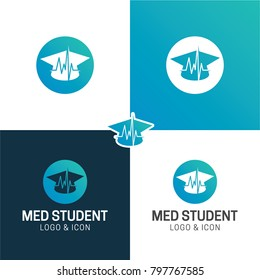 Medical Student Hat Healthcare  Logo & Icon - Vector Illustration
