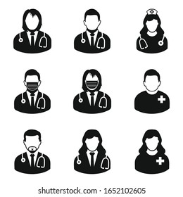 Medical Stuff Icon Set. Editable Vector.