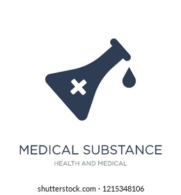 medical Substance icon. Trendy flat vector medical Substance icon on white background from Health and Medical collection, vector illustration can be use for web and mobile, eps10