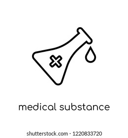 medical Substance icon. Trendy modern flat linear vector medical Substance icon on white background from thin line Health and Medical collection, editable outline stroke vector illustration