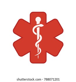 medical symbol - caduceus icon - health sign