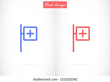 Medical symbol of the emergency star of life icon vector signs esculaap aesculapius doctor health staff asclepius caduceus healthcare Pharmacy pharma snake drugstor plus patient human Aid tags tag