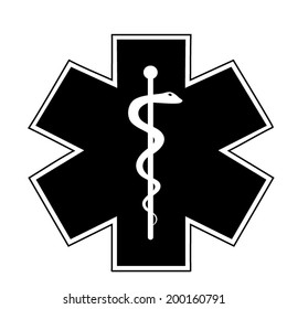 Medical symbol of the Emergency - Star of Life - icon isolated