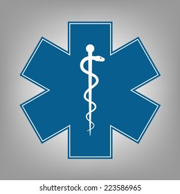 Medical symbol of the Emergency - Star of Life - icon. Vector