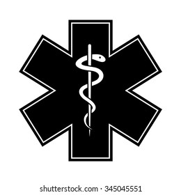 Medical symbol of the Emergency - Star of Life. Vector illustration