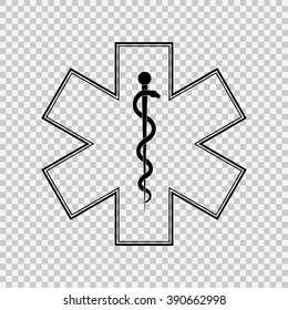 Medical symbol of the Emergency - Star of Life.