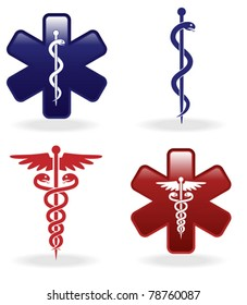 Medical symbols set (vector illustration)