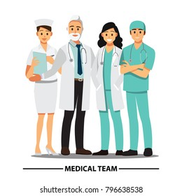 Medical Team and  staff ,Vector illustration cartoon character