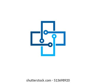 Medical Tech Logo Design Template Element