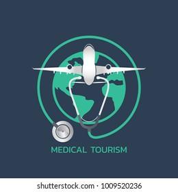 medical tourism icon design, infographic health. Vector illustration.