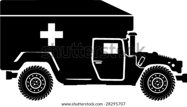 Medical Truck Hummer Stock Vector (Royalty Free) 28295707