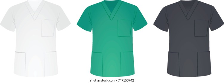 Medical uniform shirt. vector illustration