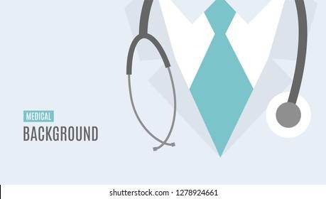 Medical vector background. Online doctor concept.