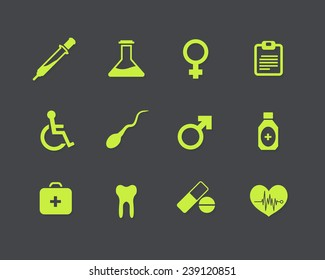 Medical Vector Flat Icons Set