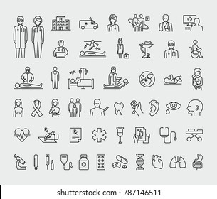 Medical Vector Line Icons Set