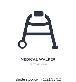 medical walker icon on white background. Simple element illustration from Health and medical concept. medical walker sign icon symbol design.