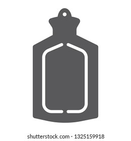 Medical warmer glyph icon, tool and medicine, rubber warmer sign, vector graphics, a solid pattern on a white background, eps 10.